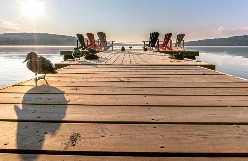 Dock at Killarney Lodge in Algonquin Park.
