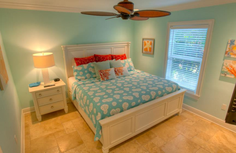 Rental bedroom at Anna Maria Vacations.