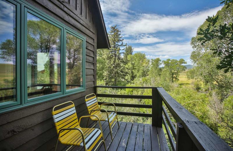 Cabin deck at The Glen Eden Resort.