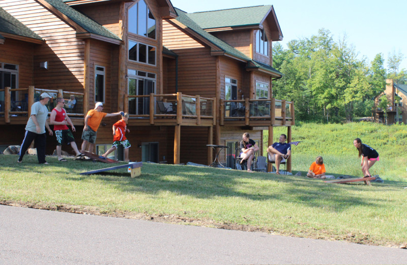 Family games at Big Sandy Lodge & Resort.