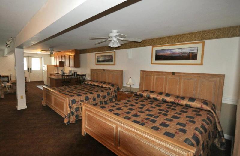 Guest room at Marine Village Resort.