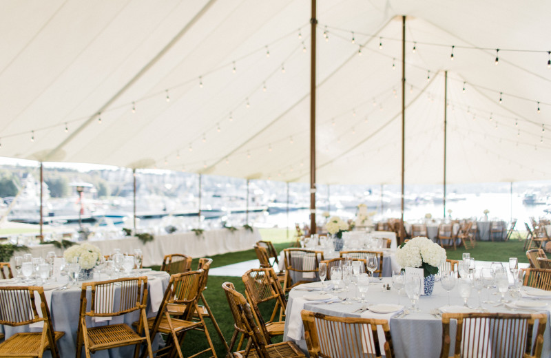 Tent reception at Bay Harbor Village Hotel & Conference Center.