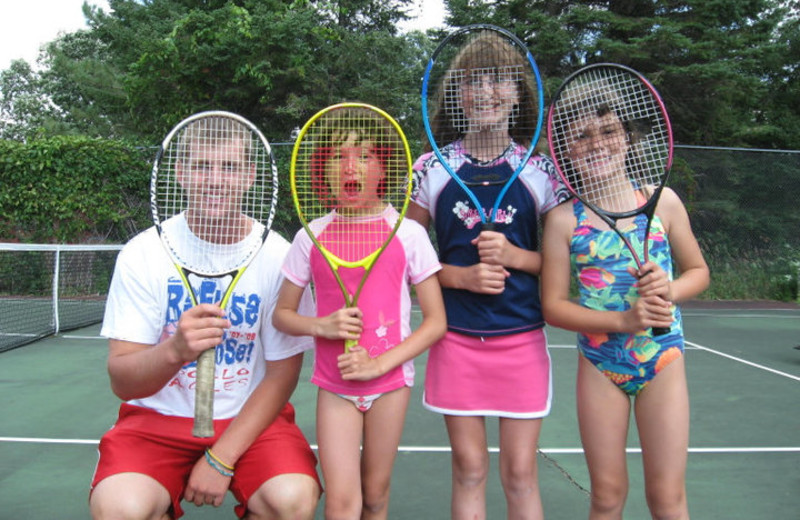 Tennis Lessons at Fair Hills Resort.