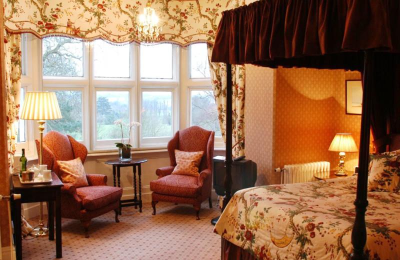 Guest room at Ockenden Manor.
