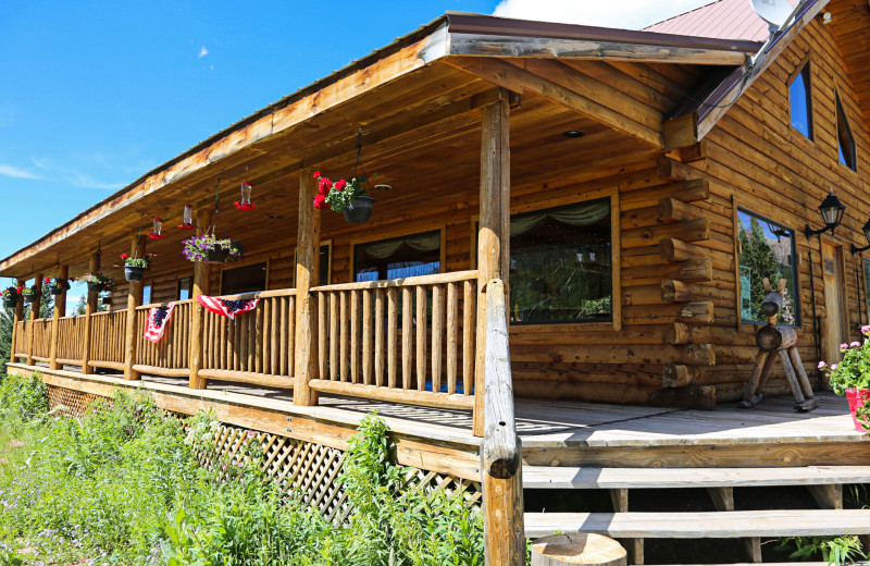 Lodge exterior at Trappers Lake Lodge & Resort.
