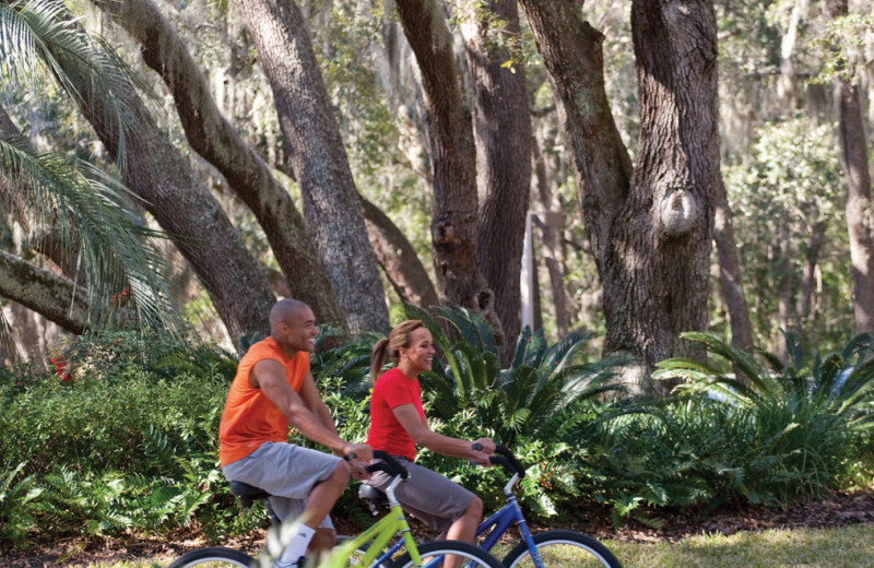 Biking at The Villas of Amelia Island Plantation.