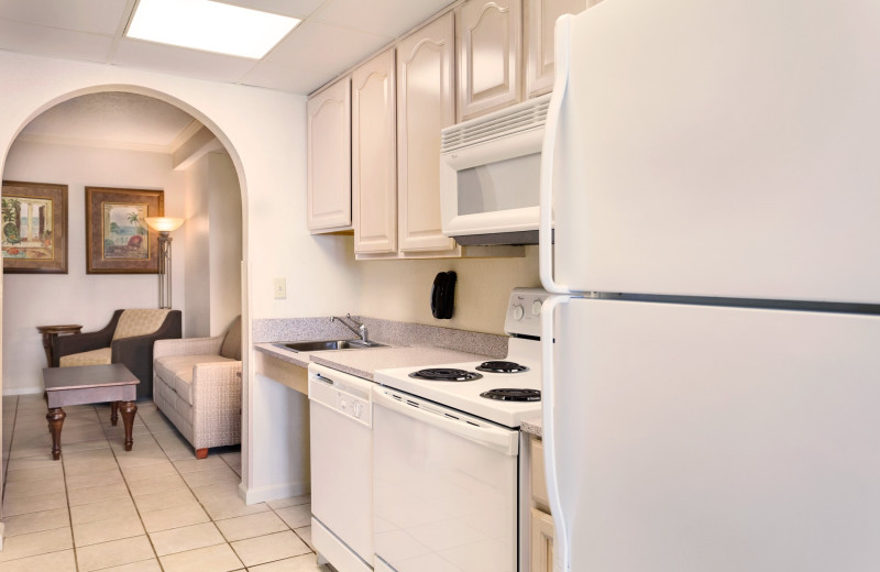 Guest kitchen at Holiday Inn Suites Ocean City.