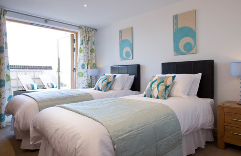 2-bed apartment at Fistral Beach.