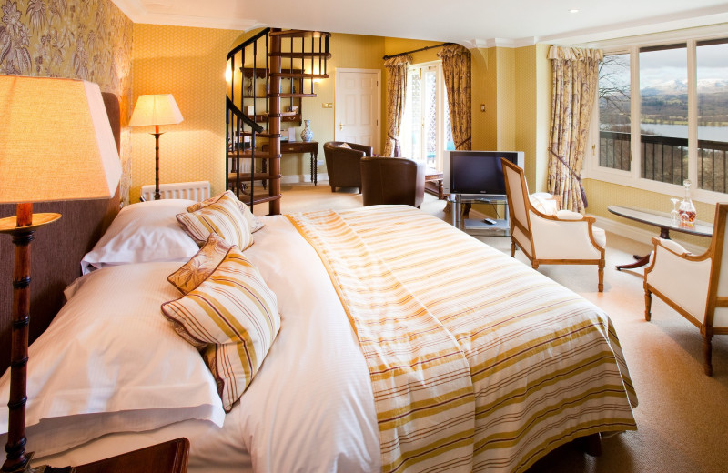 Guest room at Holbeck Ghyll Country House Hotel.