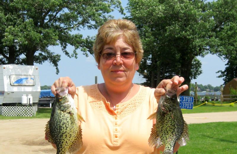Fishing at Betsy Ross Resort.