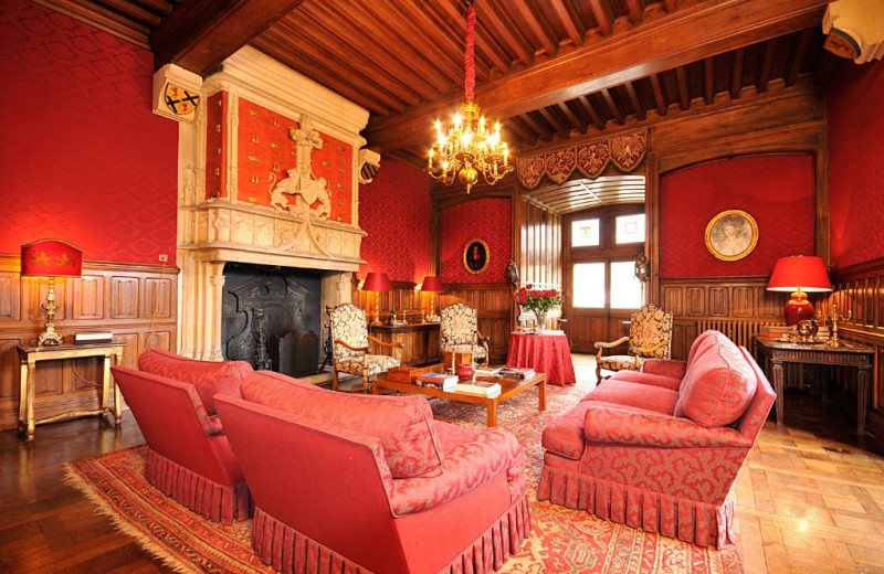 Castle living room at Luxury Castle Hire.