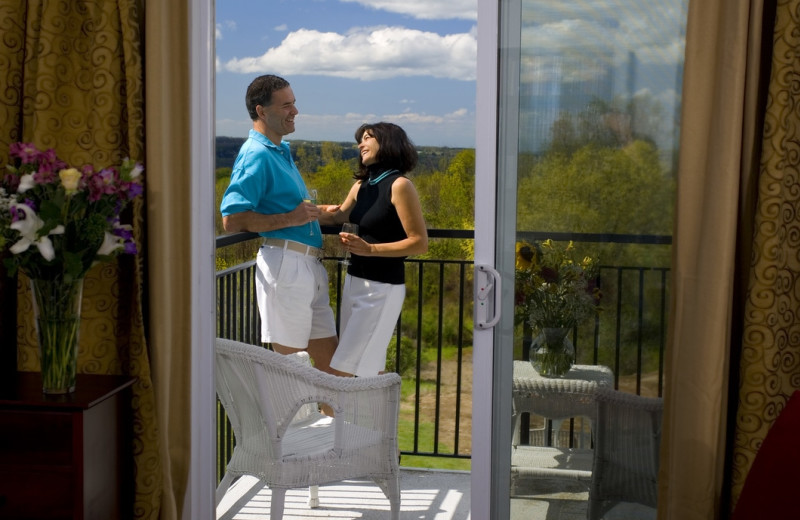 Guest balcony at La Tourelle Hotel & Spa.