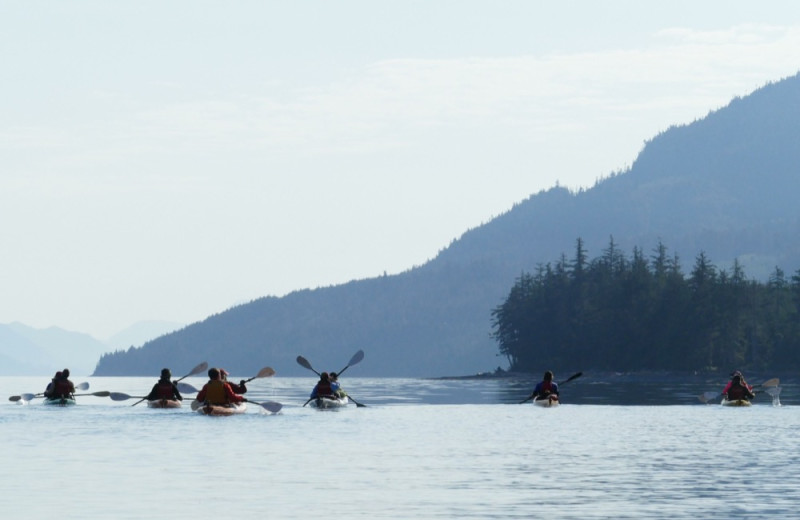 Kayaking at Orca Camp.