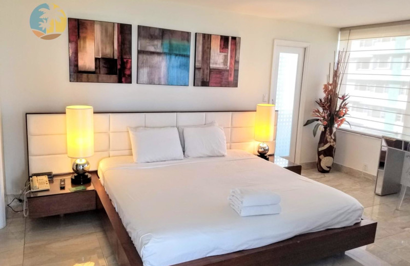 Rental bedroom at HORA Vacation Rentals.
