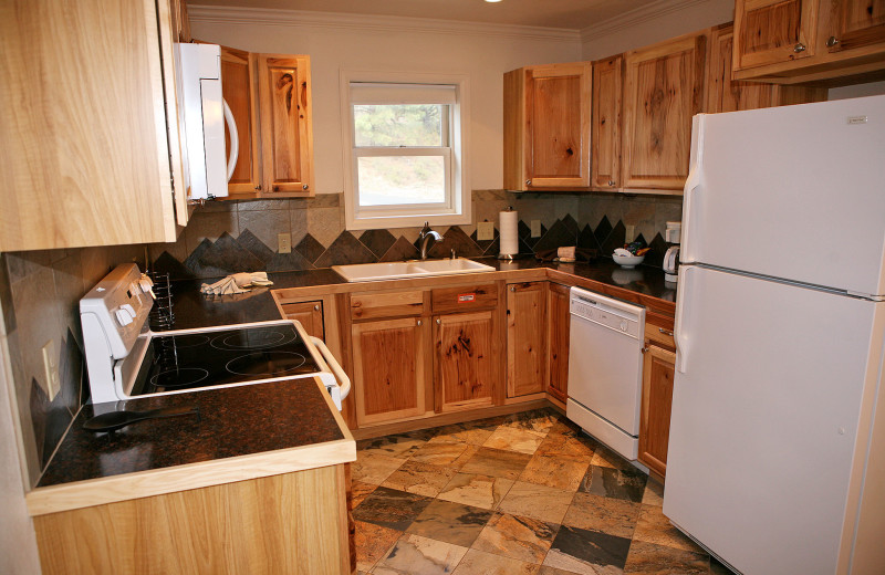 Guest kitchen at Fawn Valley Inn.