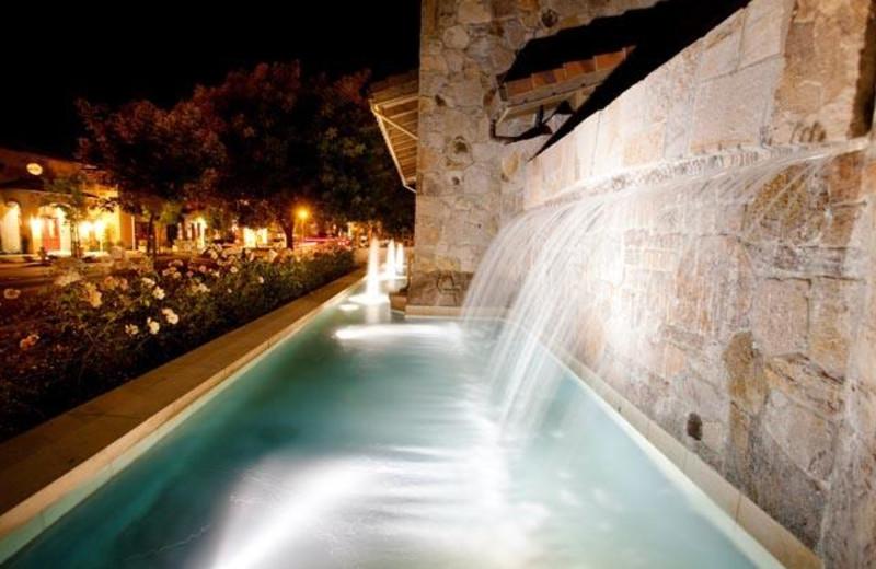 Spa fountain at Villagio Inn and Spa.