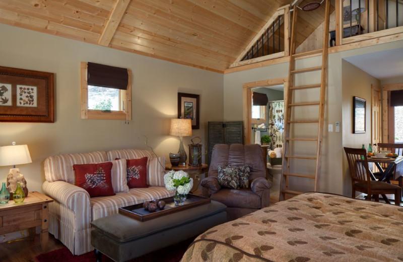 Rental living room at Carolina Mornings.