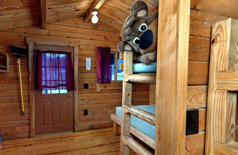 Cottage interior at Yogi Bear's Jellystone Park™ in Luray, VA.