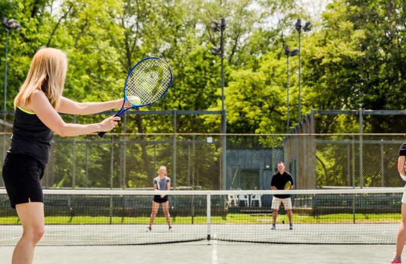 Tennis court at Oglebay Resort and Conference Center.