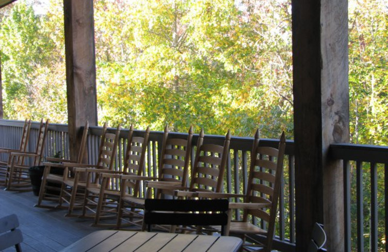 Lodge deck at Copperhead Lodge.