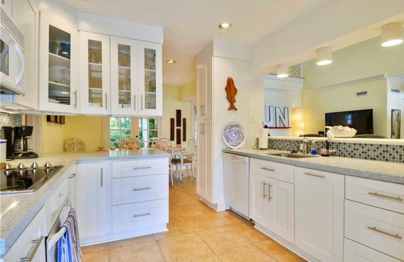 Rental kitchen at At Home in Key West, LLC.