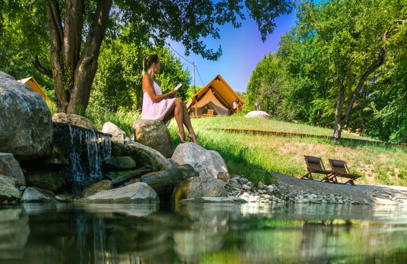 Relaxing at Chateau Ramšak Glamping Resort.