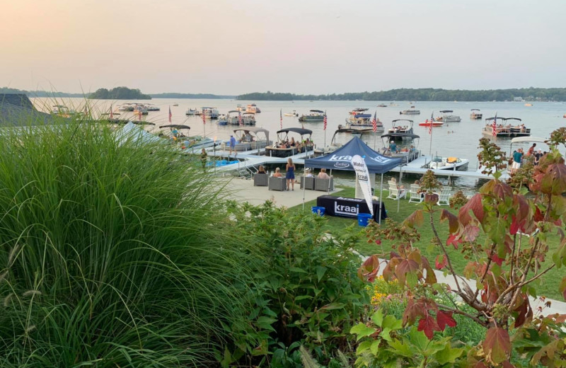 Lake view at Bay Pointe Inn Lakefront Resort.