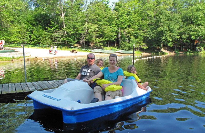 Paddle boat at Old Forge Camping Resort.