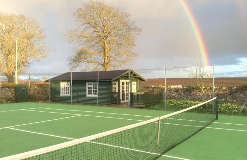Tennis court at Mackeanston House.