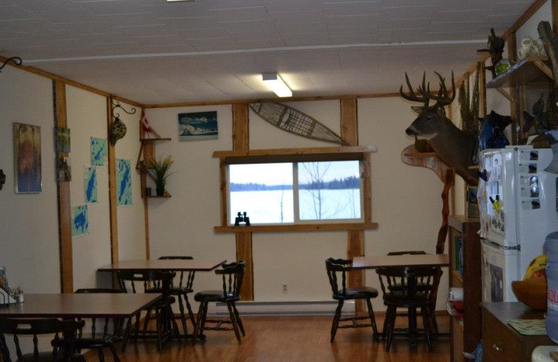 Dining at Caribou Lodge.