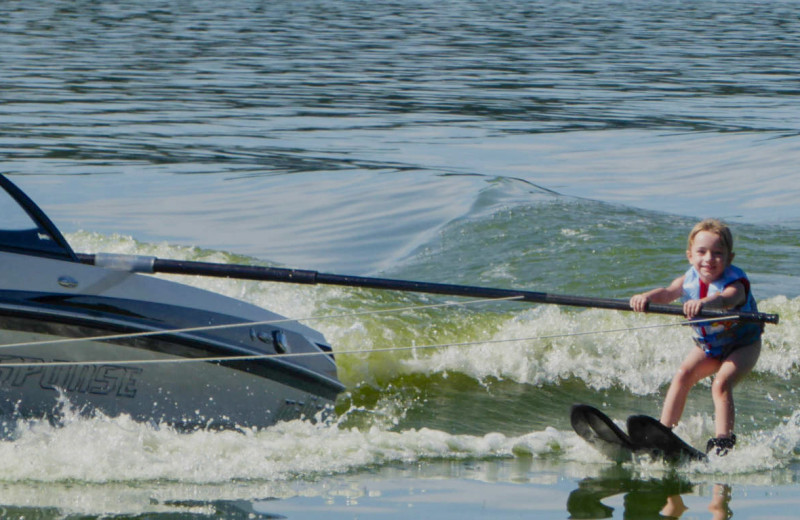 Water skiing at Idle Hours Resort.