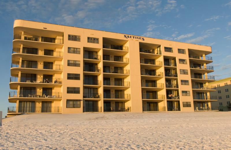 Exterior view of Nautilus Condominiums.