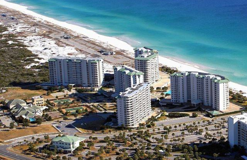 Aerial view of Compass Resorts.