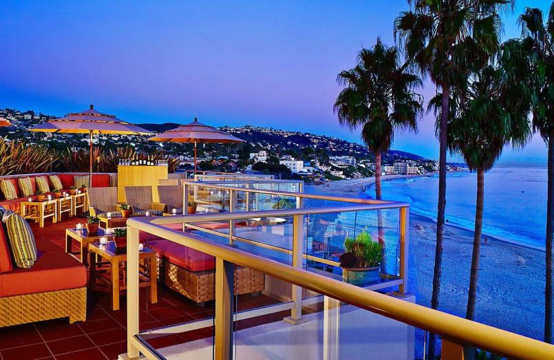 Roof top patio at Laguna Beach Inn.