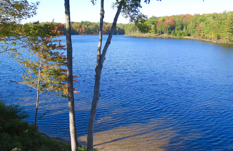 Lake view at Sleeping Bear Resort.