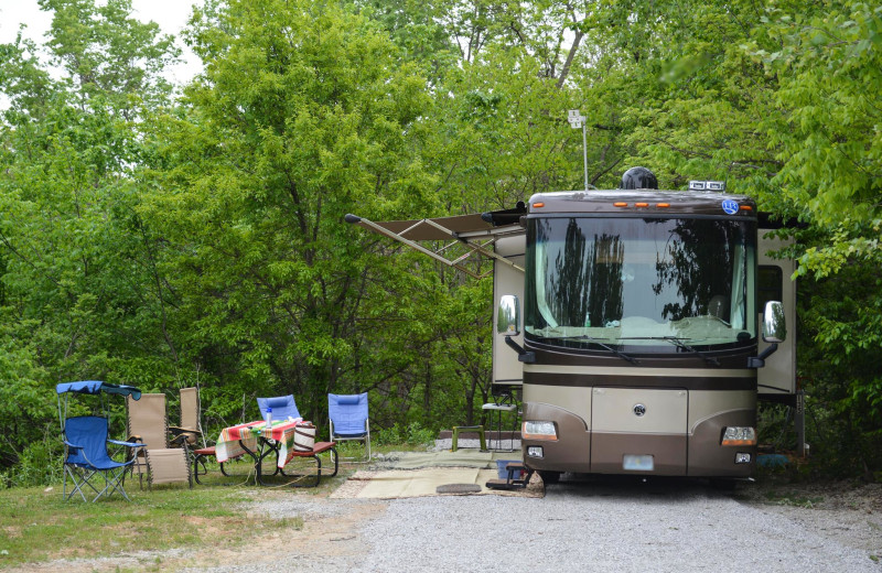 RV camping at Basswood Country Resort.