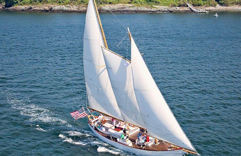 Sailing near Mill Street Inn.