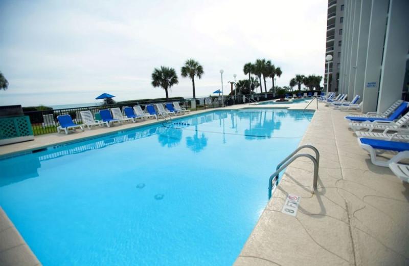 Outdoor pool at Grande Shores Ocean Resort.