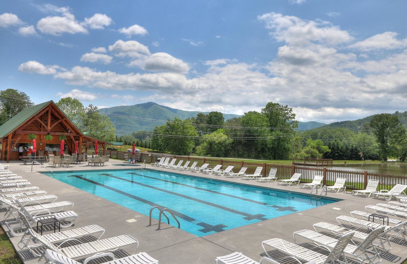 Swimming pool near Aunt Bug's Cabin Rentals, LLC.
