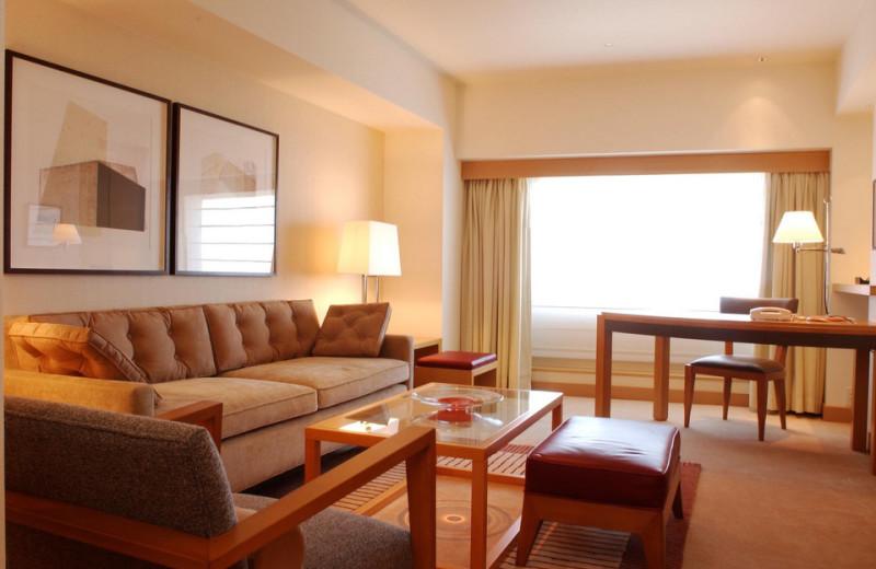 Guest room at Portopia Hotel.