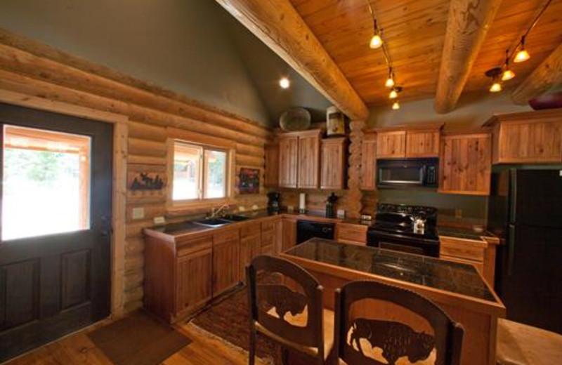 Kitchen view at Ponds Lodge.