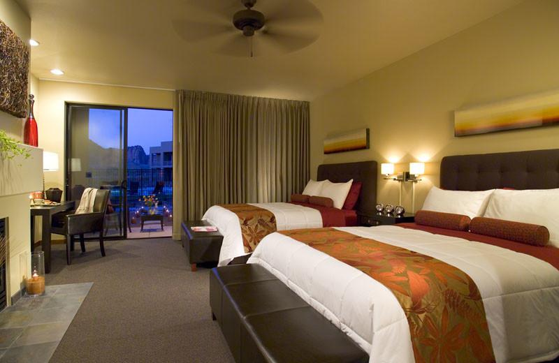 Villa bedroom at Red Mountain Resort & Spa.