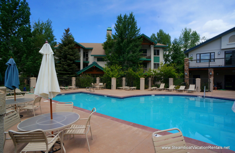 Rental pool at Steamboat Vacation Rentals.