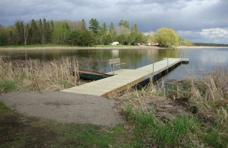 The dock at Anchor Inn Resort.