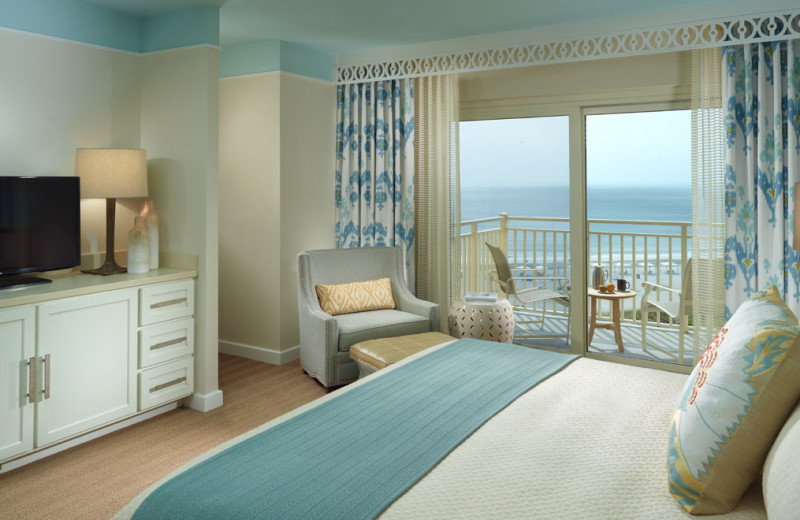 Guest room with beach view at Omni Amelia Island Plantation.