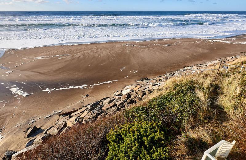 Beach view at Admiral's Beach Retreat.