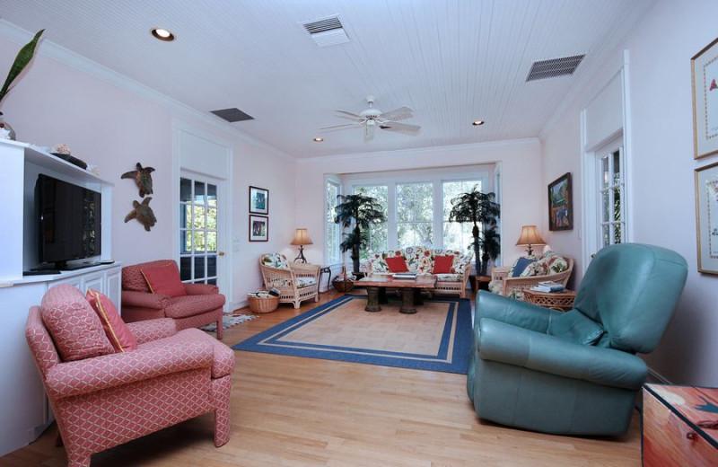 Rental living room at VIP Vacation Rentals LLC.