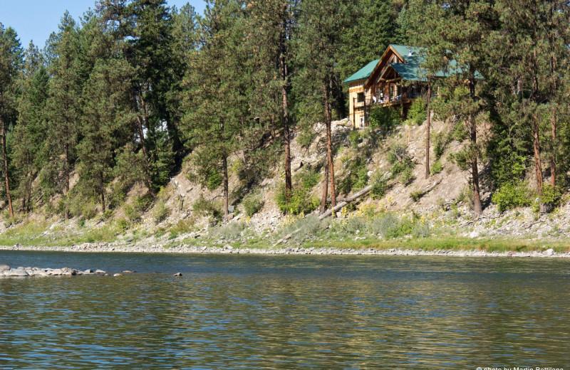 Lodge exterior at Clark Fork River Lodge.