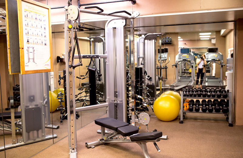 Fitness center at Rocking Horse Ranch Resort.