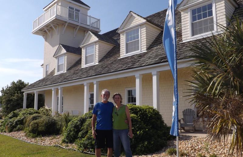 Couple at The Villas of Hatteras Landing.